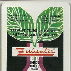Coleccionismo Calendarios: CALENDARIO FOURNIER. ZULUETA. SEMILLAS. TUDELA. NAVARRA. AÑO 1973. Lote 128473867