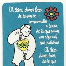Coleccionismo Calendarios: CALENDARIO FOURNIER. EDICIONES SÍGUEME. FRASE RELIGIOSA: 'OH DIOS, DANOS LOCOS, DE LOS...'. AÑO 2002. Lote 128474447