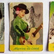 Coleccionismo Calendarios: SARITA MONTIEL (1965) CARMEN FLORES (1965) MARISA DE LEZA (1963) LOTE DE 3 CALENDARIOS.. Lote 128494715