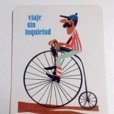 Coleccionismo Calendarios: VIAJE SIN INQUIETUD. CALENDARIO FOURNIER 1967 CHEQUES DE VIAJERO DEL BANCO DE BILBAO.. Lote 128494743