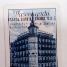 Coleccionismo Calendarios: CALENDARIO FOURNIER SEGUROS VASCONGADA 1965.. Lote 128494763