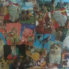 Coleccionismo Calendarios: LOTE 50 ANTIGUOS CALENDARIOS AÑOS 70, 80 Y 90 TEMATICA ANIMALES. Lote 128605691