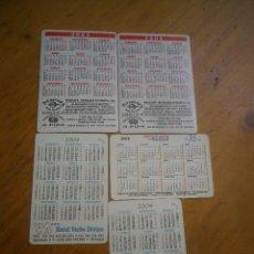 Coleccionismo Calendarios: 5 CALENDARIOS COCHES . Lote 128634523