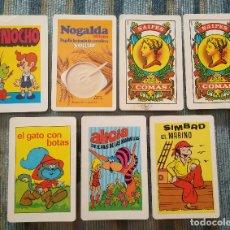 Coleccionismo Calendarios: LOTE DE 5 CALENDARIOS DE BOLSILLO + 2 DE REGALO (NAIPES COMAS 1985/86). Lote 128792003