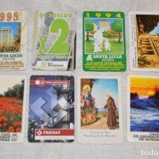 Coleccionismo Calendarios: VINTAGE - LOTE DE 8 CALENDARIOS VARIADOS HERACLIO FOURNIER - AÑOS 60 A 90 - BUEN ESTADO - ENVÍO 24H. Lote 128929255
