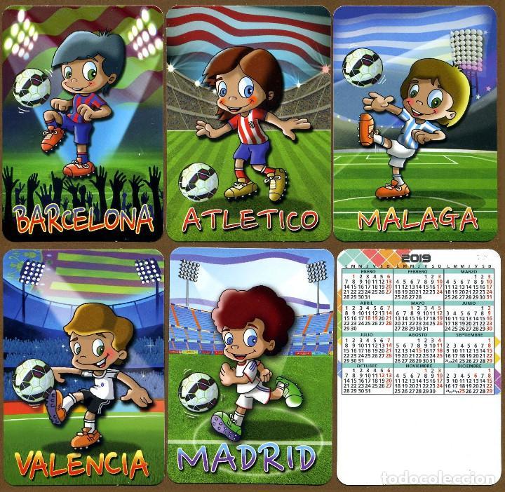 5 CALENDARIOS DE BOLSILLO FUTBOL - 2019 (Coleccionismo - Calendarios)