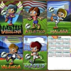 Coleccionismo Calendarios: 5 CALENDARIOS DE BOLSILLO FUTBOL - 2019. Lote 129554263