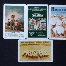Coleccionismo Calendarios: LOTE 4 CALENDARIOS DE BOLSILLO AÑOS 60, 70 Y 80 H.FOURNIER DIFERENTES PERFECTO ESTADO. Lote 129721711