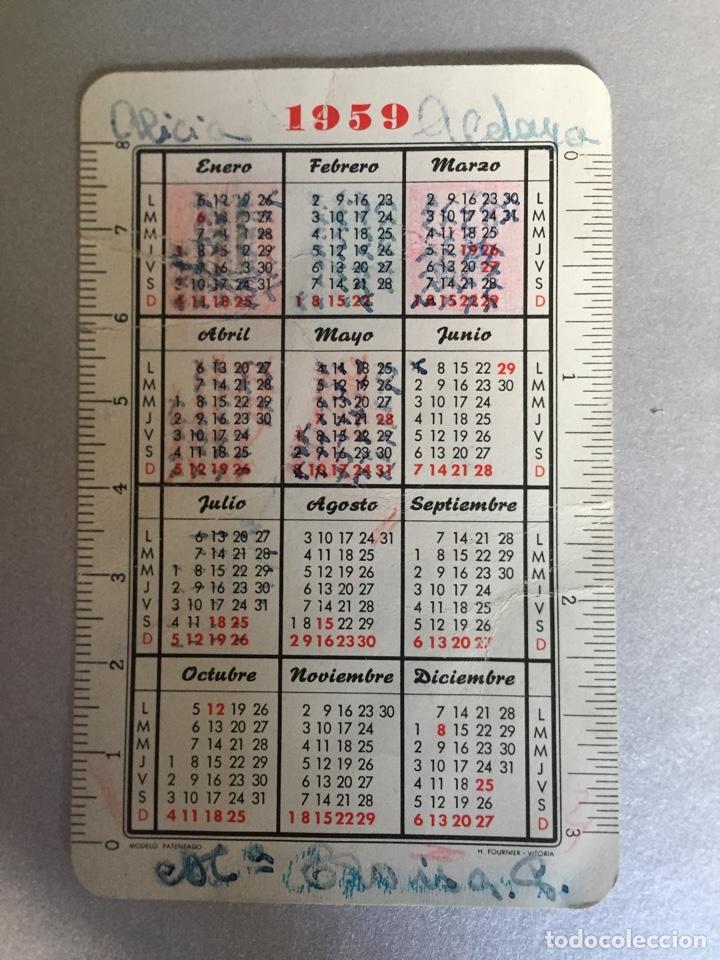 Coleccionismo Calendarios: calendario Fournier 1959 - Foto 2 - 130653619