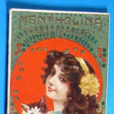 Coleccionismo Calendarios: CALENDARIO PARA 1910. MENTHOLINA DENTRÍFICA, PASTA PECTORAL DEL DOCTOR ANDREU.. Lote 131279299