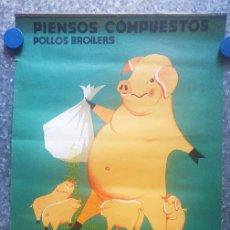 Coleccionismo Calendarios: PIENSOS COMPUESTOS MAGOL, GUADIX, GRANADA. CALENDARIO 1971. Lote 131491538