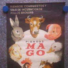 Coleccionismo Calendarios: PIENSOS COMPUESTOS MAGO ( MAGOL ) GUADIX, GRANADA. CALENDARIO 1968. Lote 131491746