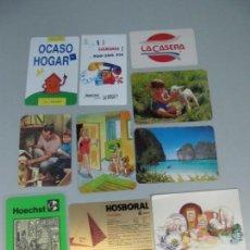 Coleccionismo Calendarios: LOTE DE 10 CALENDARIOS DE BOLSILLO. Lote 131577118