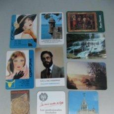 Coleccionismo Calendarios: LOTE DE 10 CALENDARIOS DE BOLSILLO . Lote 131577918