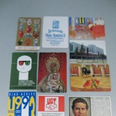 Coleccionismo Calendarios: LOTE DE 10 CALENDARIOS DE BOLSILLO . Lote 131578182