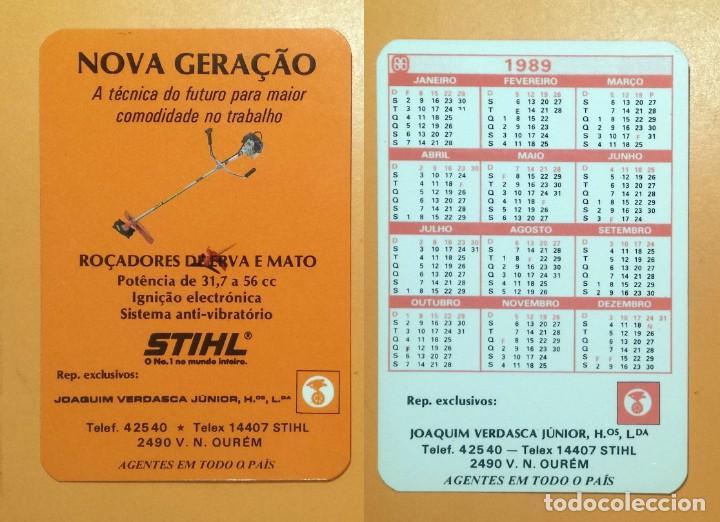 Calendario Stihl.Calendario Editado En Portugal Ano 1989 Stihl