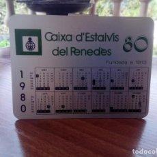Coleccionismo Calendarios: CALENDARIO METÁLICO DE CAIXA DE ESTALVIS DEL PENEDES AÑO 80. Lote 132060134