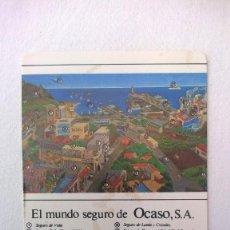 Coleccionismo Calendarios: OCASO SA AÑO 1986. Lote 132148146