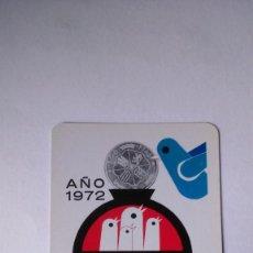 Coleccionismo Calendarios: CALENDARIO FOURNIER CAJA DE AHORROS DE ASTURIAS 1972. Lote 132401022