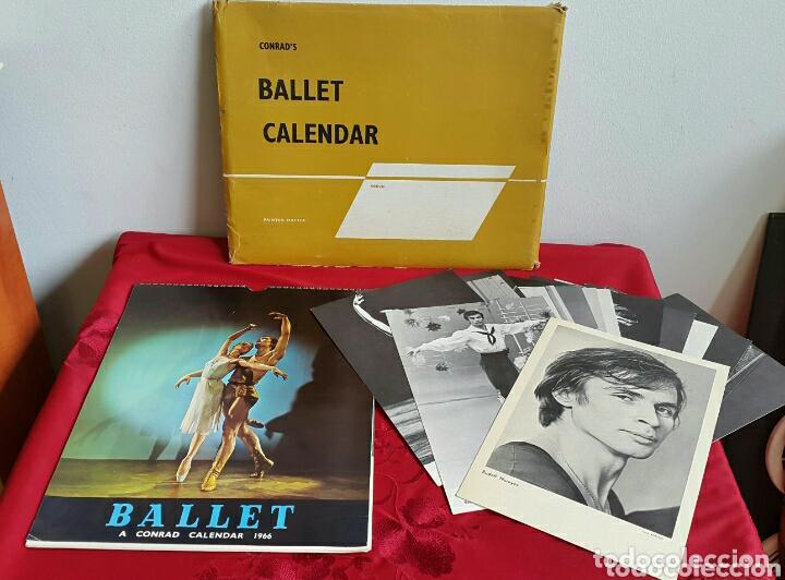BALLET CARPETA CON 18 POSTALES RUDOLF NUREYEV Y CALENDARIO DE 1966 (Coleccionismo - Calendarios)