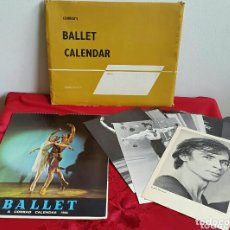 Coleccionismo Calendarios: BALLET CARPETA CON 18 POSTALES RUDOLF NUREYEV Y CALENDARIO DE 1966. Lote 132836734