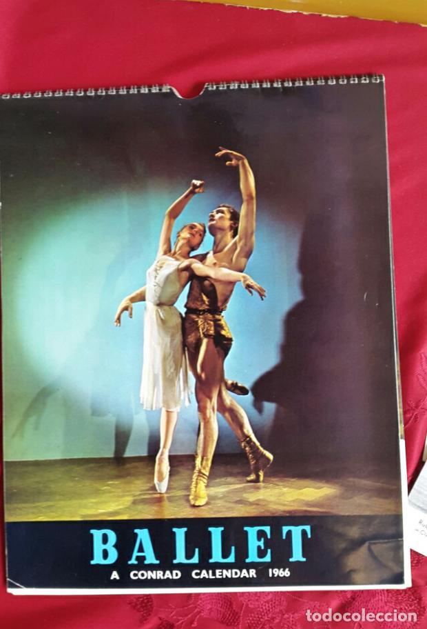 Coleccionismo Calendarios: BALLET CARPETA CON 18 POSTALES RUDOLF NUREYEV Y CALENDARIO DE 1966 - Foto 2 - 132836734