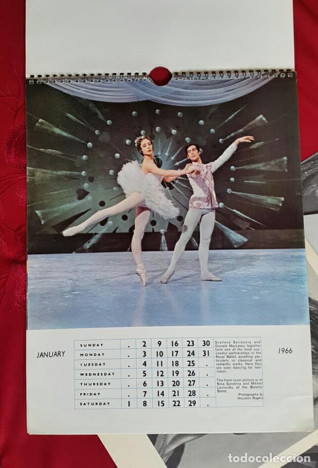Coleccionismo Calendarios: BALLET CARPETA CON 18 POSTALES RUDOLF NUREYEV Y CALENDARIO DE 1966 - Foto 3 - 132836734