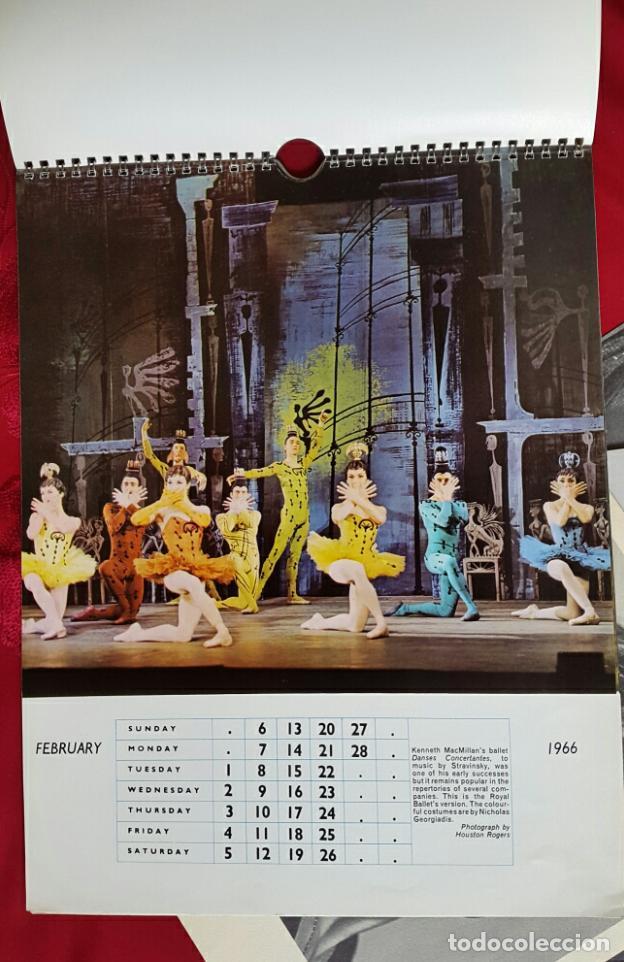 Coleccionismo Calendarios: BALLET CARPETA CON 18 POSTALES RUDOLF NUREYEV Y CALENDARIO DE 1966 - Foto 4 - 132836734