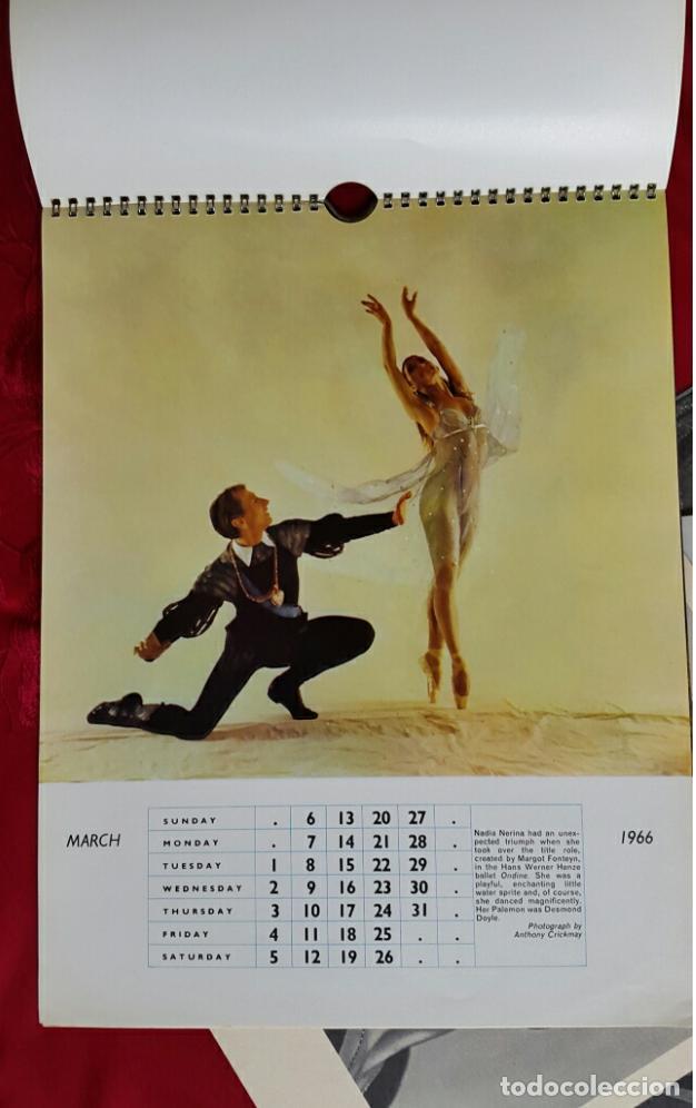 Coleccionismo Calendarios: BALLET CARPETA CON 18 POSTALES RUDOLF NUREYEV Y CALENDARIO DE 1966 - Foto 5 - 132836734