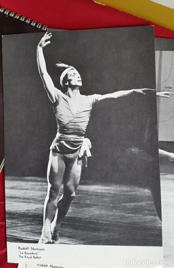 Coleccionismo Calendarios: BALLET CARPETA CON 18 POSTALES RUDOLF NUREYEV Y CALENDARIO DE 1966 - Foto 6 - 132836734