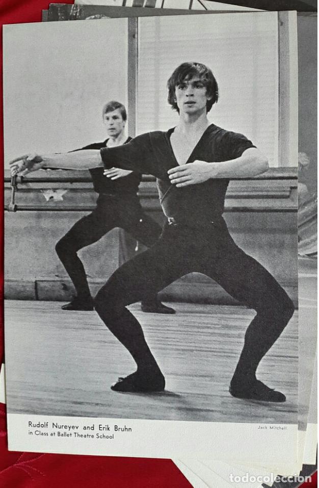 Coleccionismo Calendarios: BALLET CARPETA CON 18 POSTALES RUDOLF NUREYEV Y CALENDARIO DE 1966 - Foto 7 - 132836734