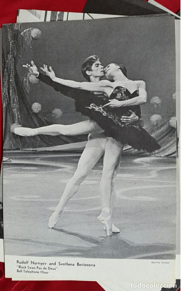 Coleccionismo Calendarios: BALLET CARPETA CON 18 POSTALES RUDOLF NUREYEV Y CALENDARIO DE 1966 - Foto 8 - 132836734