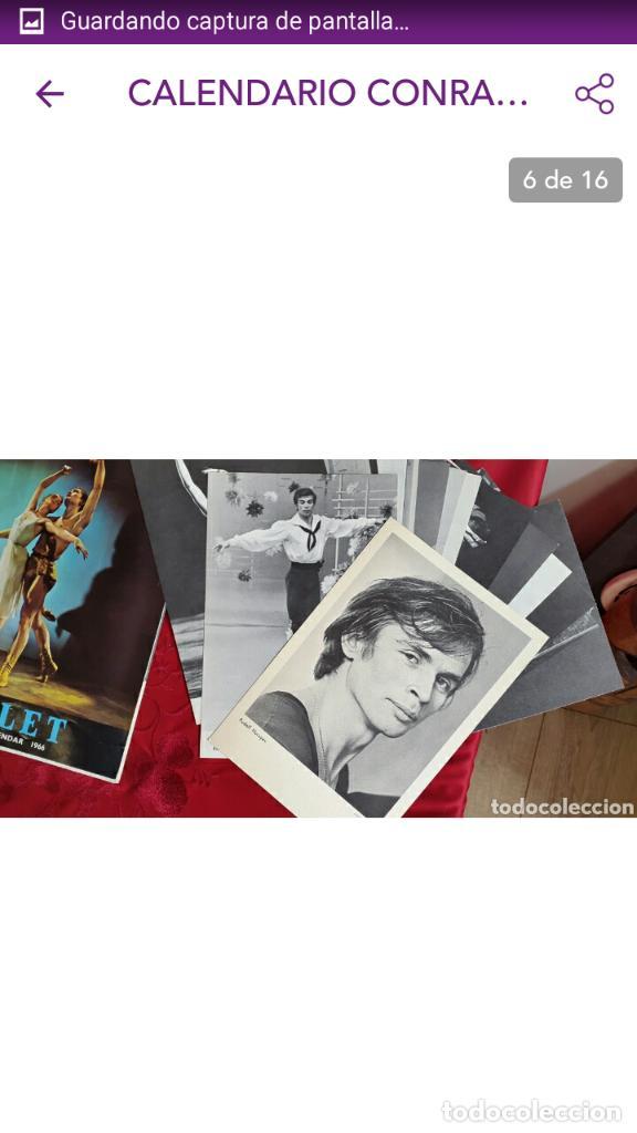 Coleccionismo Calendarios: BALLET CARPETA CON 18 POSTALES RUDOLF NUREYEV Y CALENDARIO DE 1966 - Foto 12 - 132836734