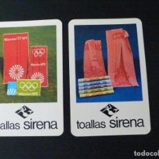 Coleccionismo Calendarios: DOS CALENDARIOS BOLSILLO TOALLAS SIRENA. AÑOS 1972.1973. FOURNIER.. Lote 132845878