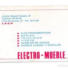Coleccionismo Calendarios: CALENDARIO DE PUBLICIDAD 1986 ELECTRO MUEBLE. Lote 132969926