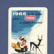 Coleccionismo Calendarios: CALENDARIO DE BOLSILLO FOURNIER AÑO 1965 - FAGOR (ELECTRODOMESTICOS). Lote 133342194