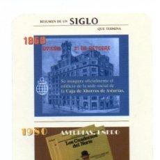 Coleccionismo Calendarios: CALENDARIO DE PUBLICIDAD 2001 CAJASTUR. Lote 133626770