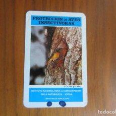 Coleccionismo Calendarios: CALENDARIO FOURNIER-ICONA AVES INSECTIVORAS-COLIRROJO REAL-DEL 1974 VER FOTOS. Lote 133656898
