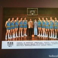 Coleccionismo Calendarios: CALENDARIO KAS BALONCESTO 1971. 1970 - 71.. Lote 133725182