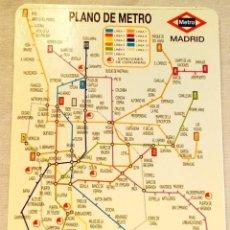 Coleccionismo Calendarios: CALENDARIO DE BOLSILLO PLANO DEL METRO DE MADRID, 2000. Lote 133810502