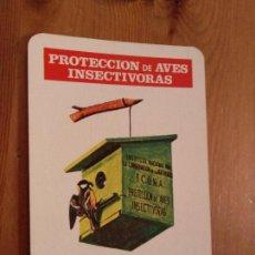 Coleccionismo Calendarios: CALENDARIO FOURNIER 1977 ICONA PROTECCION DE AVES INSECTIVORAS. Lote 133814078