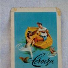 Coleccionismo Calendarios: CALENDARIO DE BOLSILLO CERVEZA EL TURIA 1958 -- FOURNIER. Lote 134039002