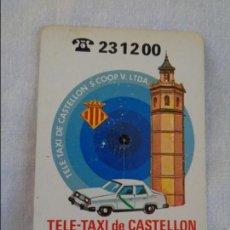 Coleccionismo Calendarios: CALENDARIO FOURNIER. TELE TAXI DE CASTELLON, CAJA DE AHORROS DE VALENCIA. 1990. Lote 134040450