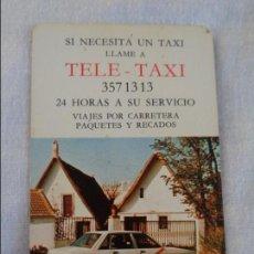 Coleccionismo Calendarios: CALENDARIO FOURNIER , TELE TAXI , 1985 FOURNIER. Lote 134041746