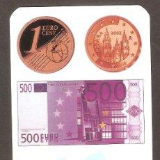 Coleccionismo Calendarios: CALENDARIO DE BOLSILLO AÑO 1999 MONEDA 1 CENT. Y BILLETE 500 EUROS - BANDERAS - VER FOTO REVERSO. Lote 137471213