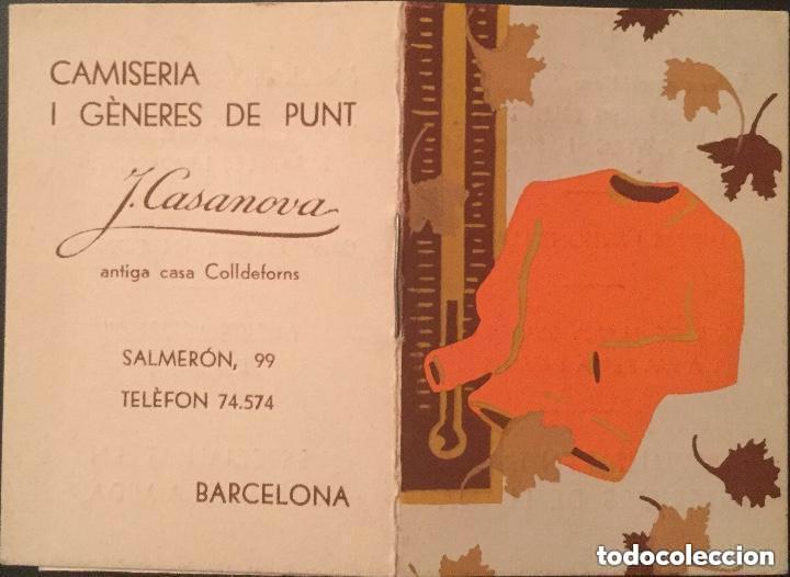 CALENDARIO LIBRITO AÑO 1935 DE CAMISERIA I GÉNERES DE PUNT J. CASANOVA (Coleccionismo - Calendarios)