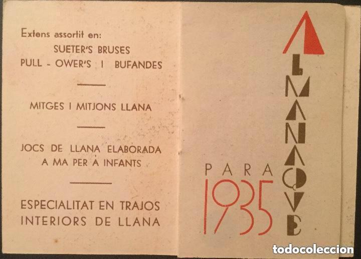 Coleccionismo Calendarios: Calendario librito AÑO 1935 de Camiseria i Géneres de Punt J. Casanova - Foto 2 - 135026674