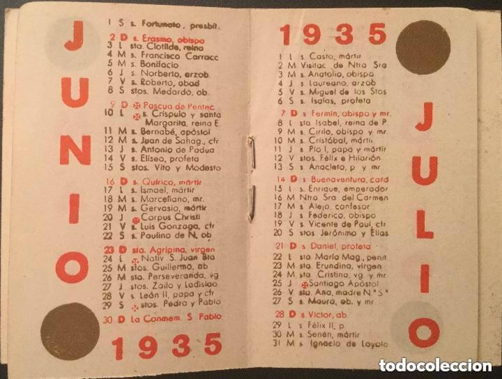 Coleccionismo Calendarios: Calendario librito AÑO 1935 de Camiseria i Géneres de Punt J. Casanova - Foto 4 - 135026674