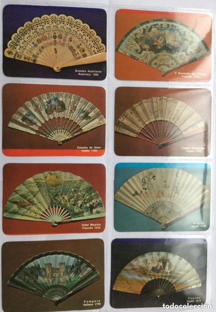 LOTE 18 CALENDARIOS PORTUGUESES DE BOLSILLO ABANICOS ANTIGUOS AÑOS 1986 (Coleccionismo - Calendarios)