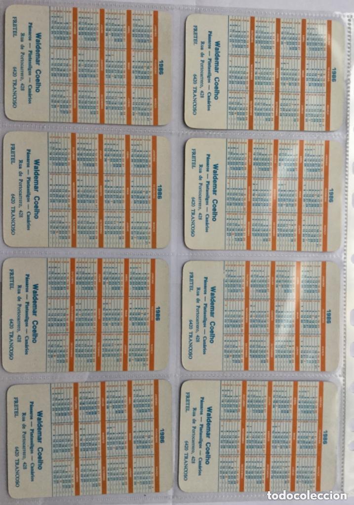 Coleccionismo Calendarios: Lote 18 calendarios portugueses de bolsillo ABANICOS ANTIGUOS años 1986 - Foto 2 - 135045874